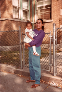 Author and Mother, circa 1985